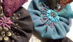 beaded & embroidered yoyos