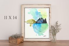 Forest mountain watercolor print, available in different sizes. Green Wall Decor, Invitation, Paintings For Sale, Watercolor Print, All Print, Painting & Drawing, Forest Mountain, Etsy Shop, Retail Therapy