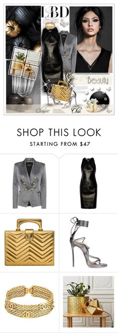 """""""LBD"""" by stranjakivana ❤ liked on Polyvore featuring Balmain, Versace, Gucci, Dsquared2, Chanel, Valentino, LBD and polyvoreeditorial"""