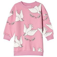 Pink Peace Sweat Dress Mini Rodini