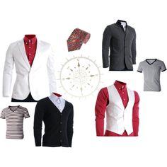 """""""Red outfits #28"""" #FLATSEVENSHOP.COM #men #fashion #christmas #menswear #mens clothing #denim  #clothes #mens blazer"""