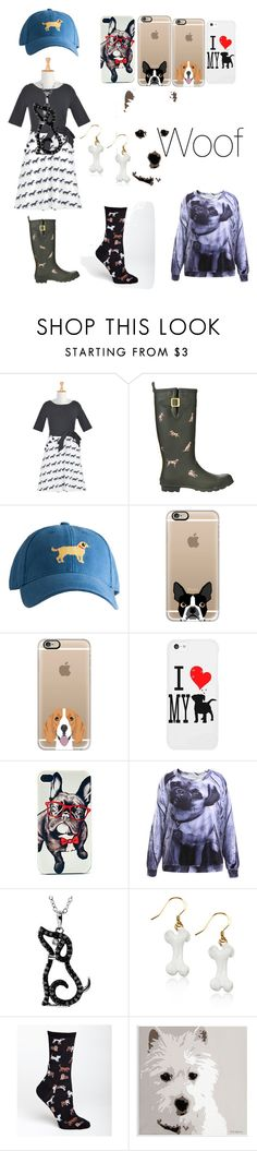 """""""Crazy Dog Lady"""" by dandyliondream ❤ liked on Polyvore featuring eShakti, Joules, Harding-Lane, Casetify, Whimsical Watches, HOT SOX, Universal Lighting and Decor, women's clothing, women's fashion and women"""