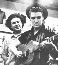 Elvis and Dewey Phillips (the first Disk Jockey to play Elvis' records over the radio)