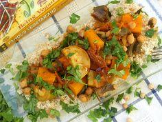 קוסקוס סתווי עם ירקות וחומוס - מתכון טבעוני