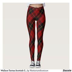Wallace Tartan Scottish Clan Plaid Pattern Leggings
