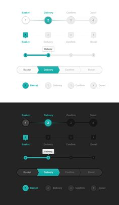 Progress_trackers_big webdesign UI                                                                                                                                                                                 More