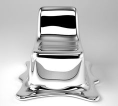 Amazing chair by Philipp Aduatz designed to look like it is melting.