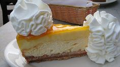 Mango Key Lime Cheesecake. From the Cheesecake Factory. Best dessert ever. And yes, it's seasonal.