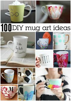 Dropped my favorite mug! So I'm creating a new mug based on these 100 Awesome DIY Mug Art Creations.
