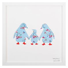 Buy Bertie & Jack - Happy Family Framed Cut-out, 27 x from our Pictures range at John Lewis & Partners. Emma Hughes, Mount Board, Make Art, Happy Family, Kids Room, Floral Prints, Product Launch, Downstairs Loo, Frame