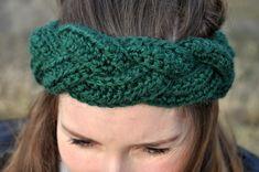 Opaska na szydełku - spleciona w warkocz. Wzór na szydelko. Crochet pattern.