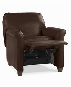 Pavia Leather Club Pushback Recliner  sc 1 st  Pinterest & Chair And A Half Recliner Leather - Foter | Heavy Duty | Pinterest ... islam-shia.org