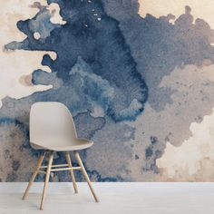 Ink Blot Water Paint Wallpaper Mural MuralsWallpaper is part of painting Walls Unique - For that grunge look try our cool Ink Blot Watercolour Paint Wallpaper Mural, a unique ink wallpaper that will add a creative aspect to your space Watercolor Wallpaper, Watercolor Walls, Painting Wallpaper, Watercolor Texture, Wall Wallpaper, Watercolor And Ink, Unusual Wallpaper, Painting Walls, Blue Wallpaper Bedroom