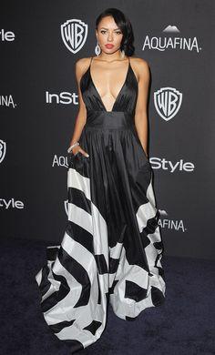Kat Graham in Yanina Couture Golden Globes 2016