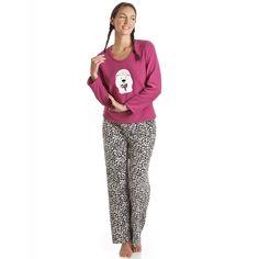6f25f3b5a9 Pink Polar Bear Full Length Pyjama Set Fleece Pajamas