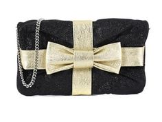 BAG, D&G, black and gold coloured leather, details in base metal, 26x16 cm, dustbag.