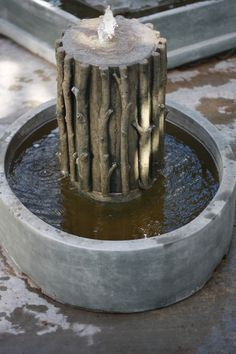 #Rustic and #Woodsy fountain