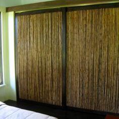Bamboo Sliding Closet Doors