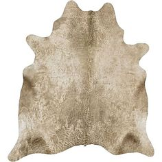 Let the rustic charms of the high-quality Genuine Brazilian Cowhide Rug, Champagne from Rug Culture echo in your décor.