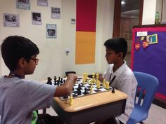 Primary Students Playing #Chess and #Carrom during #rainy day at school. #AGSGurgaon