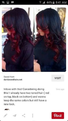 Brown with red ombre