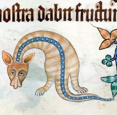 where are my hands?  Luttrell Psalter, England ca. 1325-1340  British Library, Add 42130, fol. 154v