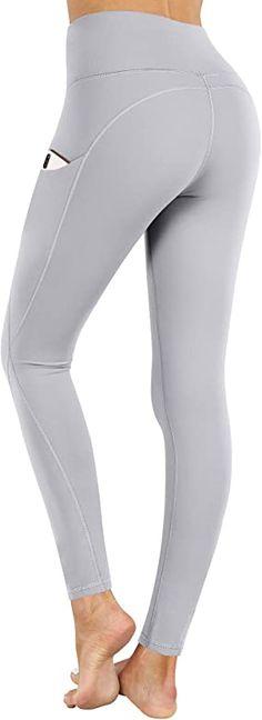 Tummy Control Workout Running Yoga Shorts PHISOCKAT Womens Biker Shorts with Pockets