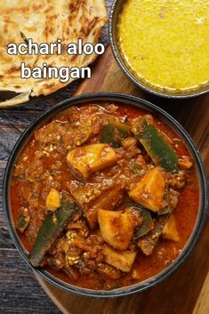 achari baingan recipe | achari aloo baingan | achari begun ki recipe with step by step photo and video recipe. most of the indian curries are made with a combination of onion and tomatoes with a basic spice mix including garam masala. this would generally yield the same taste but may derive a different flavour with the different hero ingredient. but this recipe is a unique curry for the combination of vegetables and pickle masala used in this recipe making it spicy yet rich in flavour. Spicy Recipes, Curry Recipes, Cooking Recipes, Keto Recipes, Chaat Recipe, Biryani Recipe, Aloo Poori Recipe, Indian Veg Recipes, Indian Dessert Recipes