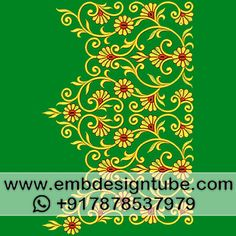 Embroidery Patterns, Hand Embroidery, Machine Embroidery, Bull Elephant, Bridal Blouse Designs, Lahenga, Thread Work, Border Design, Florals