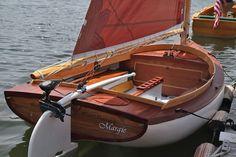 Redden Catboat at Wooden Boatshow in Mystic