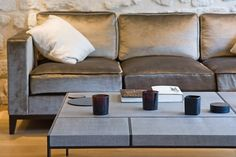 Christian Liaigre sofa and side table