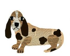 dachshund paste collage - there are all sorts of fun collages on this site