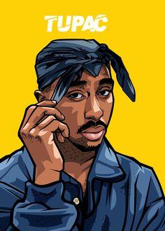 "Beautiful ""The Gangsta Rap"" metal poster created by Ahmad Sutrisno. Arte Do Hip Hop, Hip Hop Art, Dope Cartoons, Dope Cartoon Art, 2pac Wallpaper, Portrait Vector, Digital Portrait, Tupac Art, Tupac Pictures"