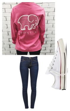 """Untitled #1"" by mollycox1225 ❤ liked on Polyvore featuring beauty, Frame Denim and Converse"