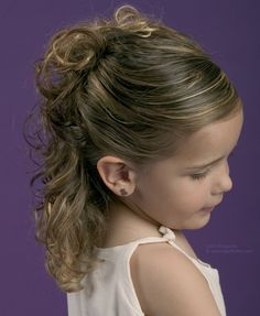 Updo for little girls with curls