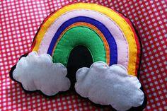 Rainbow over Clouds Cushion www.kidish.co.uk