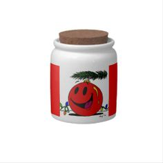 Happy Ornament Candy Jar - Red sweet sweets stasher - say THAT 3 times fast {:-)