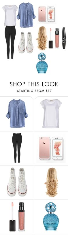 """""""School Outfits"""" by sari0914i on Polyvore featuring Just For You, Topshop, Converse, Marc Jacobs and NYX"""