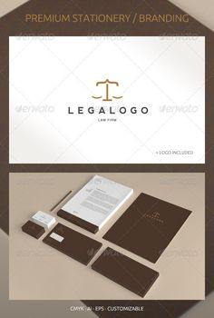 Legal and Lawyer - Corporate Identity - Stationery Print Templates