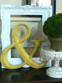 I want a giant ampersand wall hanging for my office.  Maybe in hot pink.