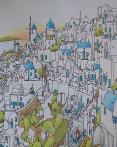 1000 Images About Fantastic Cities Colouring Book On