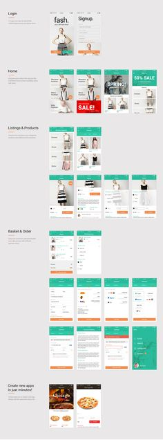 Fash. eCommerce mobile app kit | dribbble