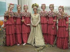 Top 10 ugliest bridesmaid dresses pinterest wedding stuff i think if each bridesmaid sported a different color that would be better like a beautiful garden junglespirit Image collections