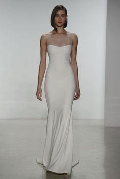 50 Simple Yet Chic Wedding Dresses For Modern Brides | HappyWedd.com  :) cuts that I would opt for