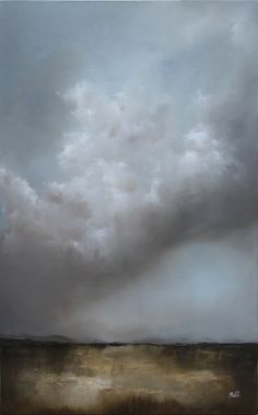 """Feel the Rain"" oil landscape painting by adam hall"