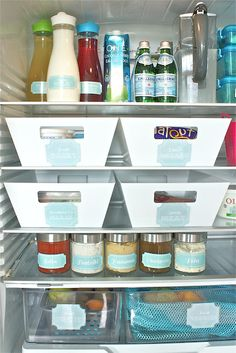 Fridge organization.  As the blogger states, not always practical but it is so exciting to see such a well organized refrigerator.