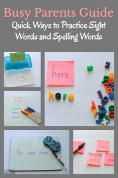 Make a quick and easy homework cart to help kids practice sight words and spelling words. It's the perfect solution for busy parents.