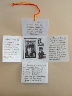 "susangaylord.com: Bookmaking Projects. (My class did biography ""Who Am I? projects"" using this idea and my students loved it! -Michael)"
