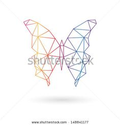 Butterfly abstract isolated on a white backgrounds. Vector illustration - stock vector