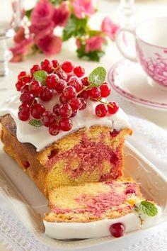 """""""Мраморный"""" смородиново-малиновый кекс. - Люблю готовить.""""Мраморный"""" смородиново-малиновый кекс."""